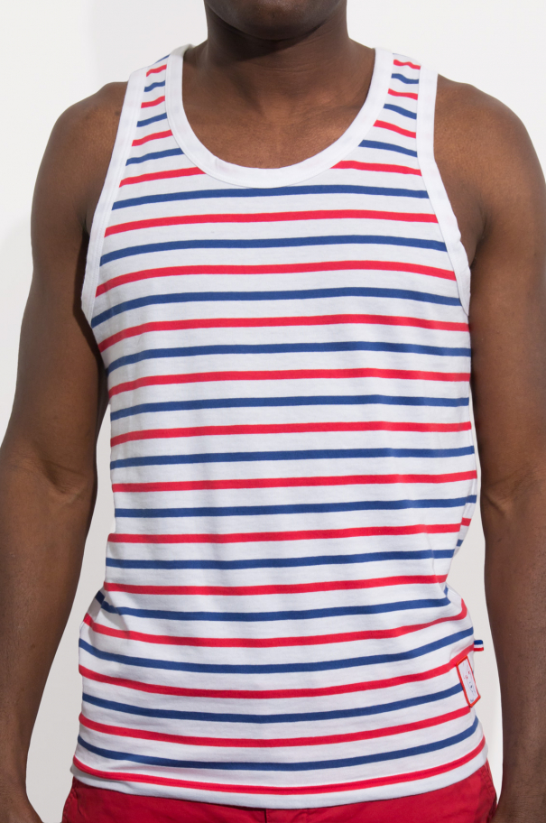 Marcel Gentleman/ Blue White Red Thick Stripes